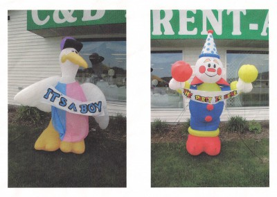 Blow Up Stork or Clown
