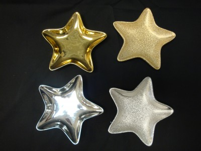 Frosted/Shiny Gold & Silver Stars